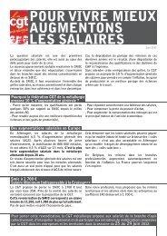 Tract salaires juin 2012 - Féderation - La cgt