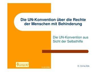 Die UN-Konvention aus Sicht der Selbsthilfe _ SPD - ForseA