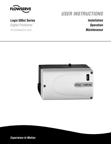USER INSTRUCTIONS - Flowserve