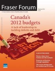 Fraser Forum May/June 2012 - Fraser Institute
