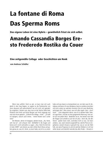 La fontane di Roma Das Sperma Roms - Galerie Laterne