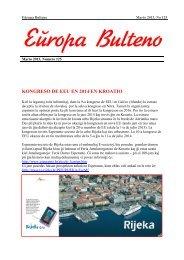 Numero 125: Marto 2013 - Eŭropa Esperanto-Unio