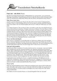 Pressemitteilung Vortrag Wasser ist Leben - Freundeskreis ...