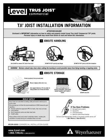 Beam and header bearings for Tji 210