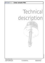 Linear actuator Mini - Framo Morat