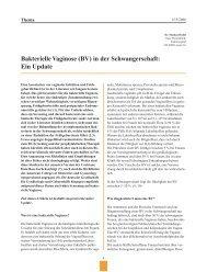 Bakterielle Vaginose (BV) in der Schwangerschaft: Ein Update