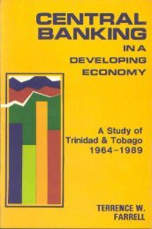 CENTRAL BANKING IN A DEVELOPING ECONOMY - Caribbean ...