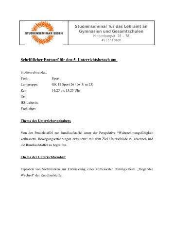 Timingverbesserung mit Sichtmarken im Staffellauf (pdf) - FSSport.de