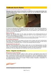 Todkrank durch Keime - Forum-Bioenergetik eV