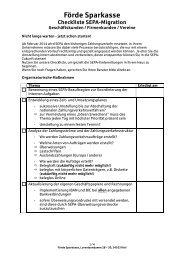 SEPA-Checkliste für Unternehmen - Förde Sparkasse