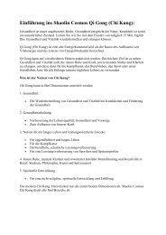 Einführung ins Shaolin Cosmos Qi Gong - Freiraum Zentrum Praxis