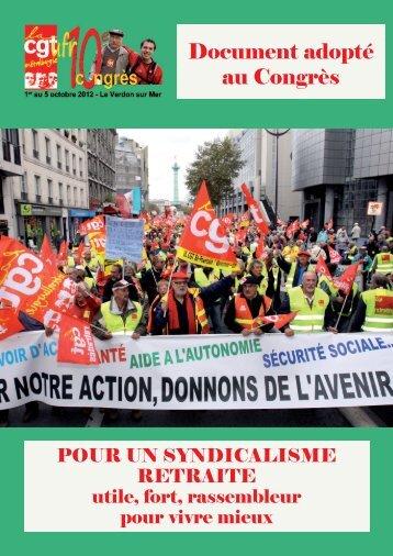 Document adopté au 10ème congrès de l'UFR - Féderation - La cgt