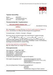 Tagebuch Internet-Blog Datum: 09.02.2010 Fach ... - GastroSuisse