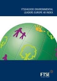 FTSE4Good Environmental Leaders Europe 40 Index Brochure