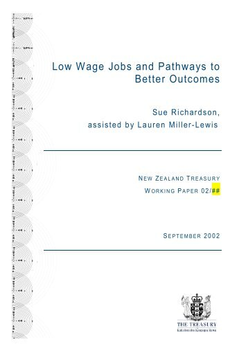 Low Wage Jobs and Pathways to Better Outcomes - Flinders ...