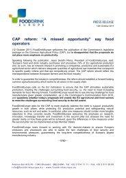 download the document (pdf - 240 KB) - FoodDrinkEurope