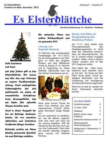 Ausgabe 03-12 - Frankfurt - Soziale Stadt - Neue Nachbarschaften