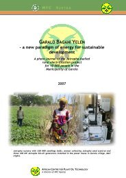 Photo journal of Garalo Bagani Yelen project, with ... - Mali Folkecenter