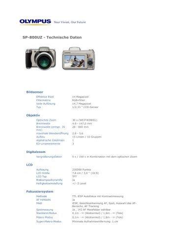 SP-800UZ - Technische Daten - Foto Basler Aarau