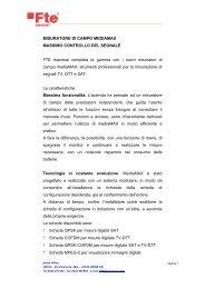 MISURATORE DI CAMPO MEDIAMAX MASSIMO ... - FTE Maximal