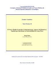 Arranjos e Sistemas Produtivos Locais e as Novas Políticas de ...