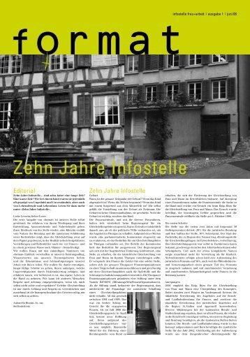 Zehn Jahre Infostelle: Oktober 2008 - Infostelle Frau und Arbeit