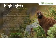 2012 Annual Report download - Forest and Bird