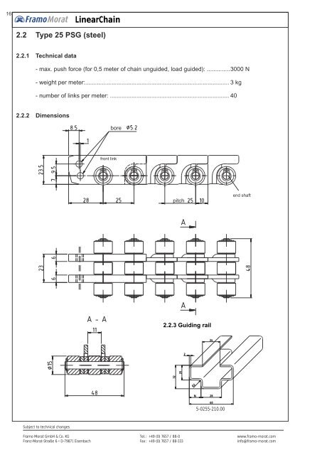 LinearChain documentation complete - Framo Morat