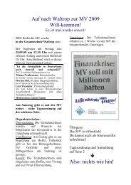 Auf nach Waltrop zur MV 2009 Will-kommen! - Freinet-Kooperative eV