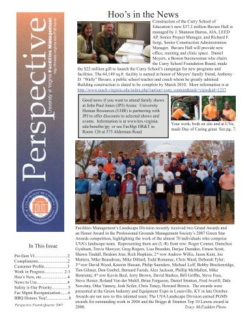 Hoo's in the News - Facilities Management - University of Virginia