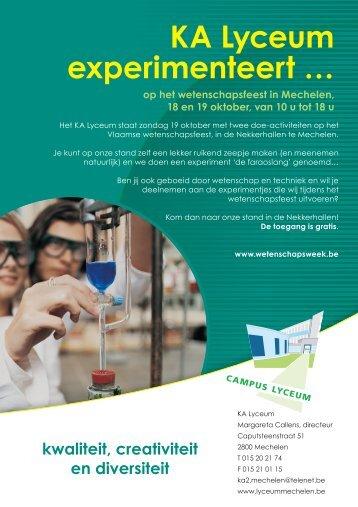 KA Lyceum experimenteert … - GO! onderwijs van de Vlaamse ...