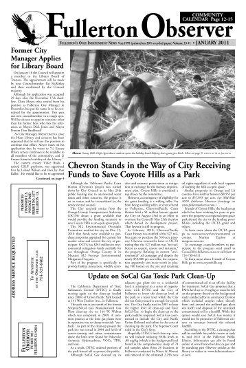 Jan 2011 - Fullerton Observer