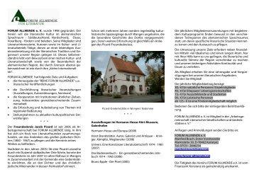 FORUM ALLMENDE e. V. wurde 1998 gegründet. Der Verein will ...