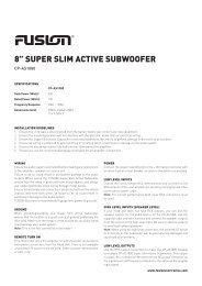 "8"" SUPER SLIM ACTIVE SUBWOOFER - Fusion"