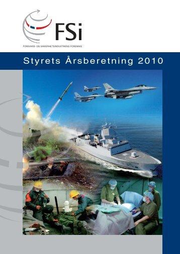 Styrets Årsberetning 2010 - FSi