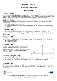 Ćwiczenia z Fizyki II Elektryczność i Magnetyzm Seria 8, 2012 ...