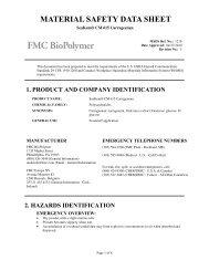 SeaKem® CM 615 Carrageenan - FMC Corporation