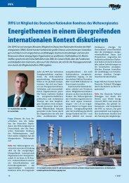 Energiethemen in einem übergreifenden internationalen Kontext ...