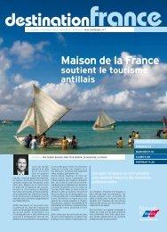 Maison de la France soutient le tourisme antillais destination
