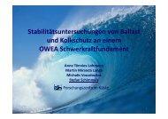 Stabilitätsuntersuchungen von Ballast und Kolkschutz an ... - FZK