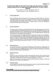Empfehlung des BMA zur Durchführung der Eignungsuntersuchung ...