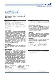 maxit prim 1010 Haftsperrgrund - maxit Baustoffwerke GmbH