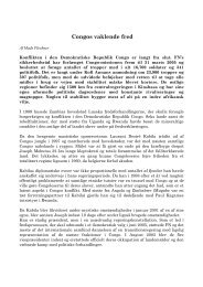 Fleckner, Mads: Congos vaklende fred - Det danske Fredsakademi