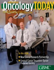 Winter 2011 Edition Topics - Greater Baltimore Medical Center