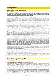 Schlaganfall - Forum-Bioenergetik eV