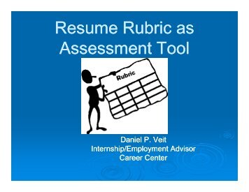 Resume Rubric as Assessment Tool - Gallaudet University