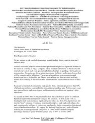 NPS Roads letter final 7-20-04.pdf - American Recreation Coalition