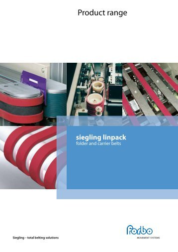 Folder and Carrier Belts with Linatex Coating - Forbo Siegling