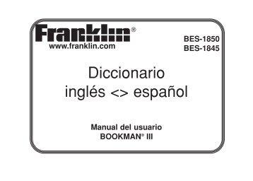 Diccionario inglés  español - Franklin Electronic Publishers, Inc.