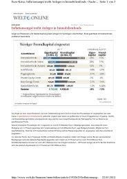 Inflationsangst treibt Anleger in Immobilienfonds - First Invest